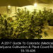 A 2017 Guide To Colorado (Medical) Marijuana Cultivation & Plant Count Rights 18-18-406