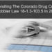 Revisiting The Colorado Drug Crime Wobbler Law 18-1.3-103.5 In 2018